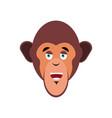 monkey happy emoji marmoset merry emotion vector image