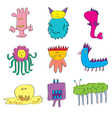 Monsters Cute Set vector image vector image
