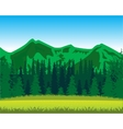 Mountains and wood by summer vector image vector image