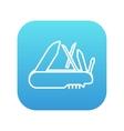 Multipurpose knife line icon vector image