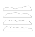 paths of Mountains set on the white background vector image vector image