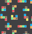 Pattern color block game vector image