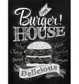 Poster Burger Hous chalk vector image vector image