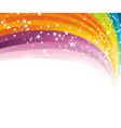 rainbow advertising vector image vector image