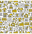 real estate icons pattern vector image vector image