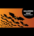 scary happy halloween banner with bats for vector image