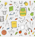 school items pattern vector image