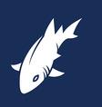 Sea Shark Silhouette vector image vector image