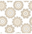 seamless background with oriental mandalas vector image vector image