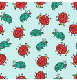seamless lady bug background pattern vector image