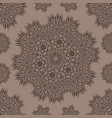 seamless pattern with stylized flowers mandala vector image