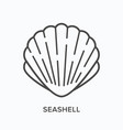seashell line icon outline of vector image vector image