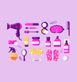 set different body care accessories vector image vector image