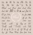 set hand lettered ampersands and catchwords vector image