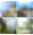 set of nature blurred unfocused backgrounds vector image vector image