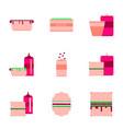 Set pixel icons fast food