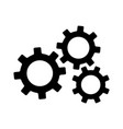 settings gears or mechanical cogs icon vector image vector image