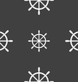 ship steering wheel icon sign Seamless pattern on vector image