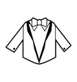 sketch silhouette image wedding suit male jacket vector image vector image
