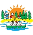 Stick figure camping vector image vector image