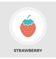 Strawberry flat icon vector image