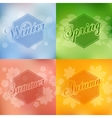 Stylish 4 season cards design vector image