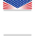 usa flag frame poster vector image vector image