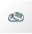 waffle icon line symbol premium quality isolated vector image