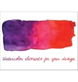 watercolor gradient stripe Watercolor wet stains vector image vector image