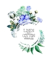 Watercolor linen and cotton vector image vector image
