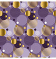 Xmas seamless dots modern pattern purple vector image