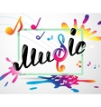 Colorful music logo in frame vector image