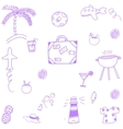 Hand drawn summer time doodle vector image