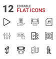12 player icons vector image vector image