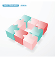 3d cubes infographic vector image
