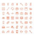 49 care icons vector image vector image