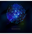 Abstract geometric lattice the scope of molecules vector image vector image