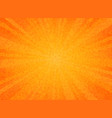 abstract sun burst orange color circle pattern vector image vector image