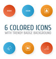 audio icons set collection of song ui skip song vector image vector image
