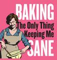 baking vintage style badge or emblem vector image vector image