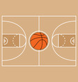 basketball court symbol vector image