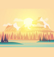 beautiful fields landscape vector image