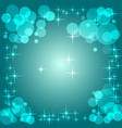 blue gradient background with bokeh vector image