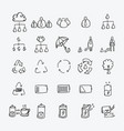 business doodle icons set drawing sketch vector image vector image