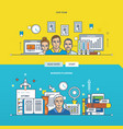 business planning and our team vector image