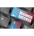 business success button on computer keyboard key vector image vector image