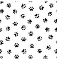 cats paw print cat or dog paws footsteps prints vector image