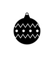 christmas ball icon flat design best icon vector image vector image
