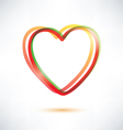 classic heart symbol made of ribbons icon vector image vector image