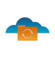 cloud computing folder vector image vector image